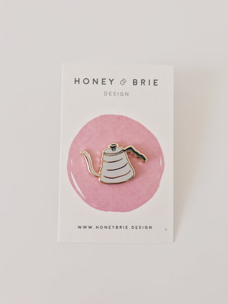 Honey & Brie Design Pour Over Kettle Pin