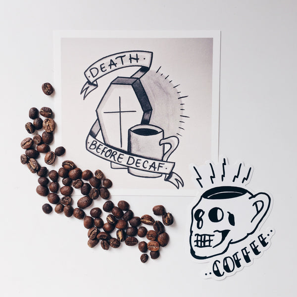 Brew Sleep Draw Coffee Print