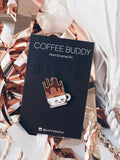 Joanna Behar Coffee Buddy Pin