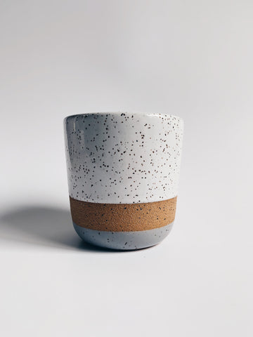 Avesha Michael Speckle Grey + White Tumbler