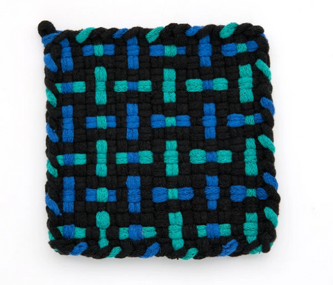 Kate Kilmurray Deep Ocean (Blue Black Blue Robin's Egg) Coaster