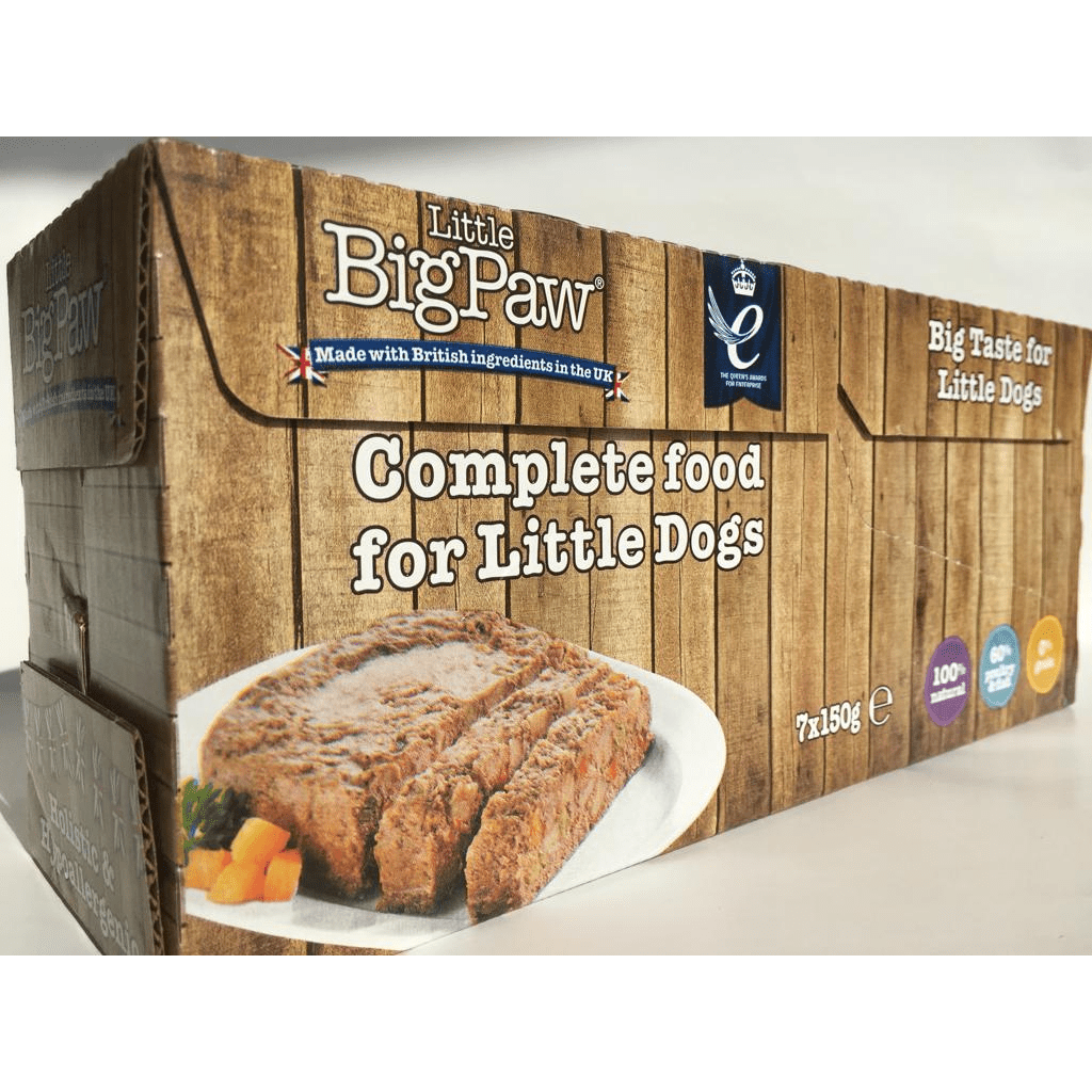 Little Big Paw Traditional Turkey & Vegetable Dinners For Small & Toy Dog Breeds