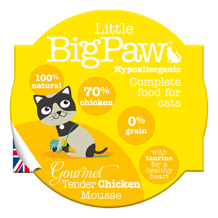 Little Big Paw Gourmet Tender Chicken Mousse Wet Canned Food For Adult Cats