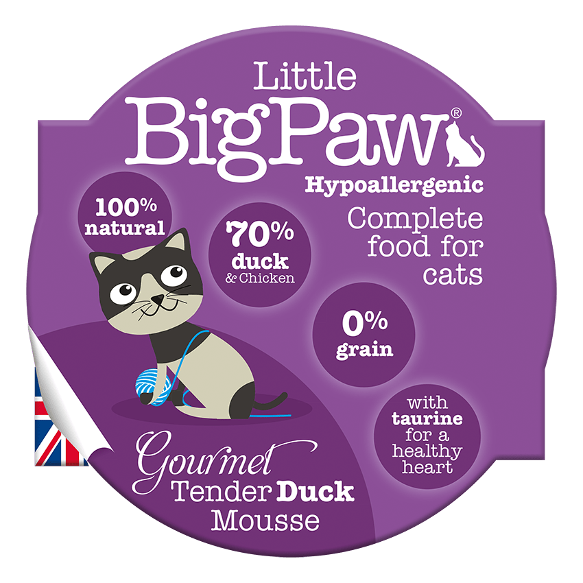 Little Big Paw Gourmet Tender Duck Mousse Wet Canned Food For Adult Cats