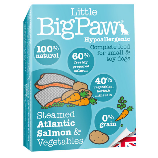 Little Big Paw Steamed Atlantic Salmon & Vegetable For Small & Toy Dog Breeds