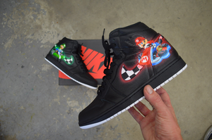 Celebrate Nintendo's 130th Birthday with Custom Painted Mario Kart Jordans