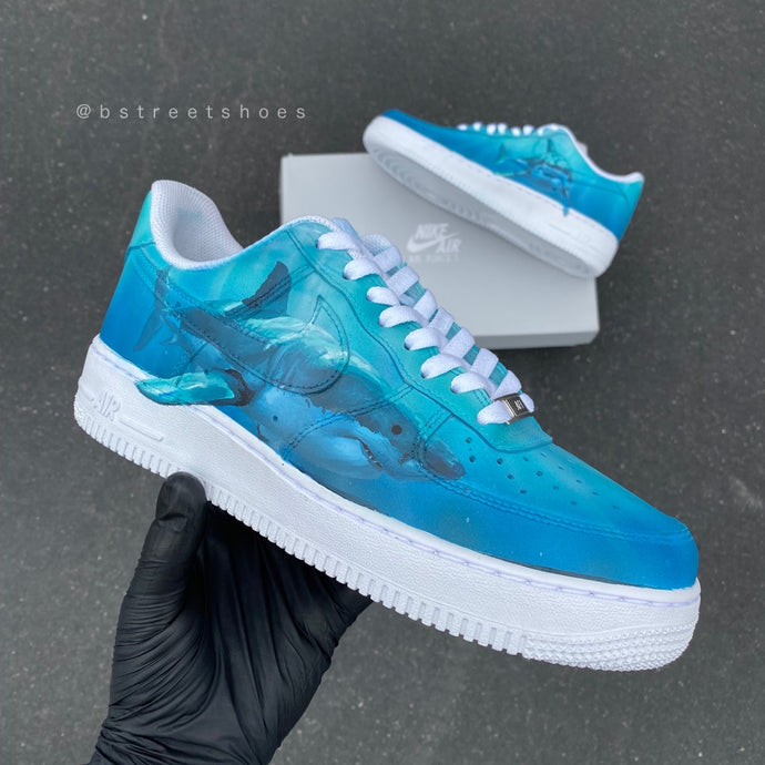 Custom Shark Theme Nike AF1 Lows - With Giveaway details!