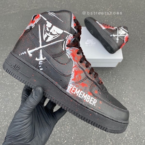 Remember, Remember the Fifth of December - Custom Painted Nike Air Force 1s V for Vendetta