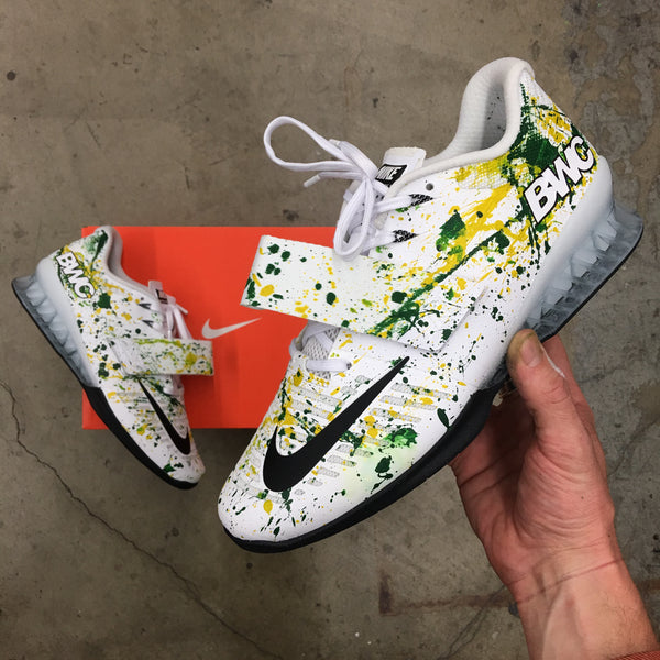 Custom Kicks Made For Australia's #1 Youth and Junior Weightlifter - Custom Hand Painted Australian Themed Nike Romaleos