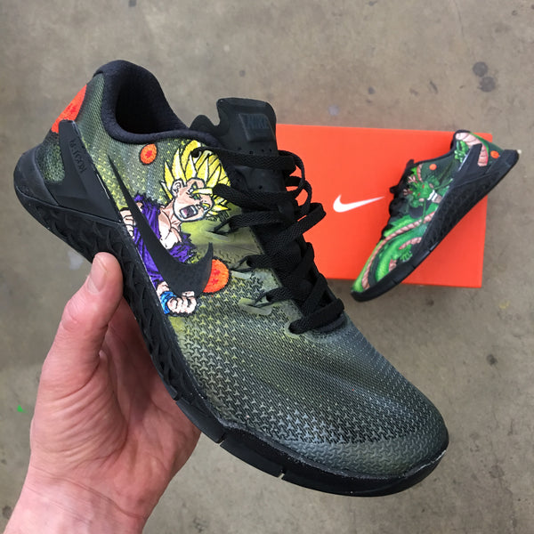 You'll Go Super Saiyan For These Dragon Ball Z Themed Shoes - Custom Hand Painted Nike Metcon 4s