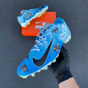 LA Chargers Wide Receiver #11 Geremy Davis Protects the Deep Ocean as Well in His Custom Cleats
