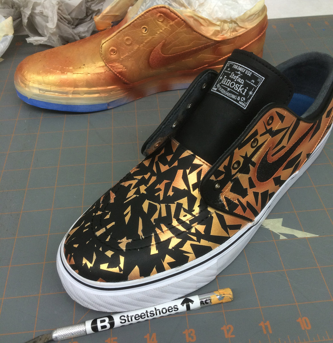 How To Paint Leather Sneakers Step By Step Tutorial – B
