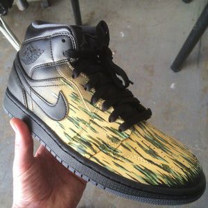 Custom Hand Painted Jordan Retro 1s for Comedian Katt Williams