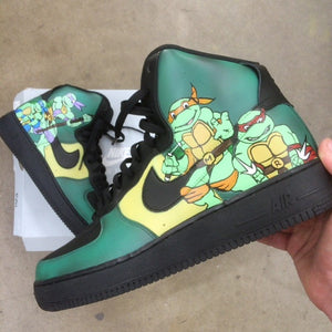 Custom Teenage Mutant Ninja Turtle TMNT Nike AF1 Sneakers