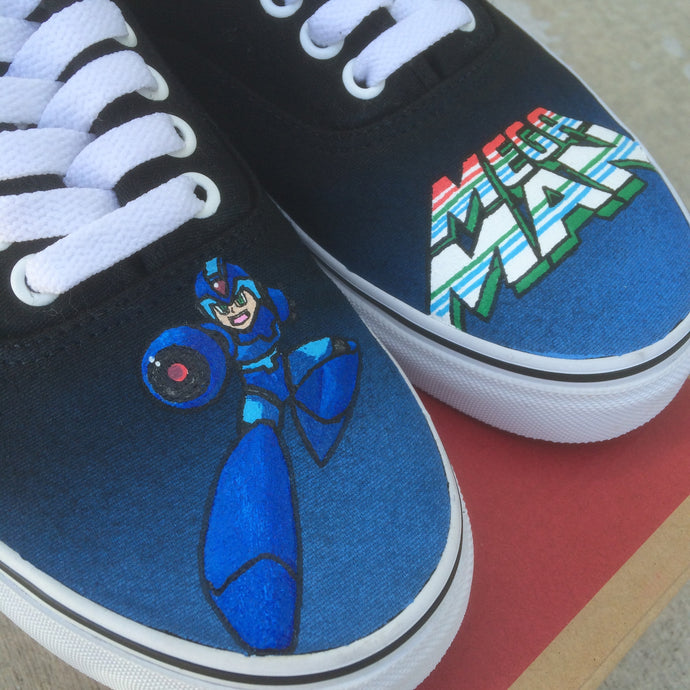 Custom Mega Man Vans - Hand Painted For the Die Hard Fans ロックマン
