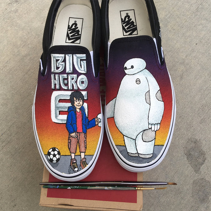 Big Hero 6 Custom Vans