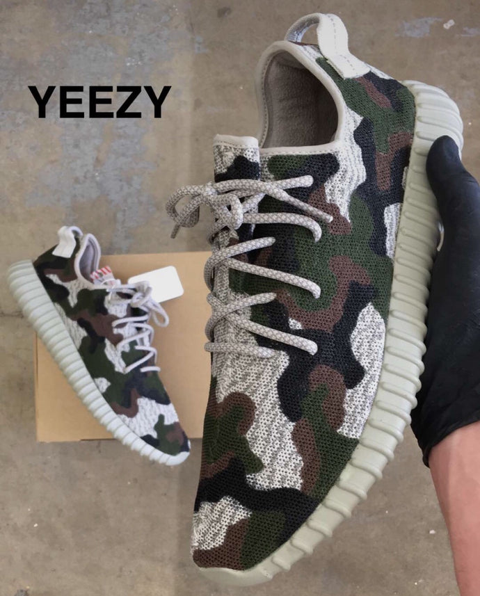 Custom Camo Yeezy Boost 350