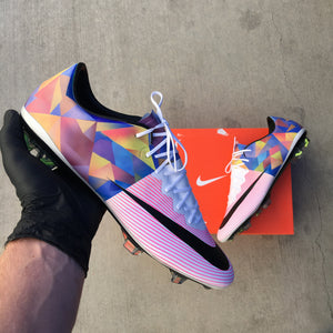 Custom Nike Mercurial Soccer Cleats - Hand Painted