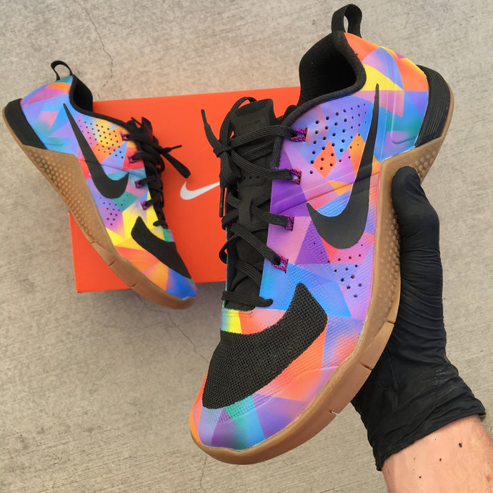 Custom Painted Nike Metcon 'Prism'