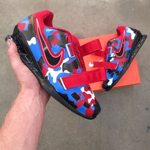 Red White Blue Camo Nike Romaleo 2 - Custom Lifters