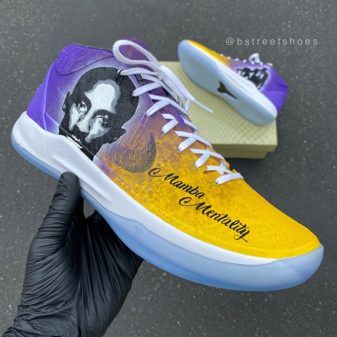 Custom Painted Kobes - Mamba Forever