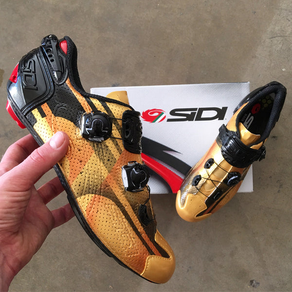 Custom Painted Sidi Cycling Road Shoes