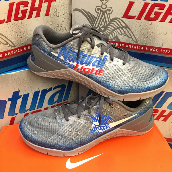 Custom Painted Natural Light Beer Nike Metcon 3