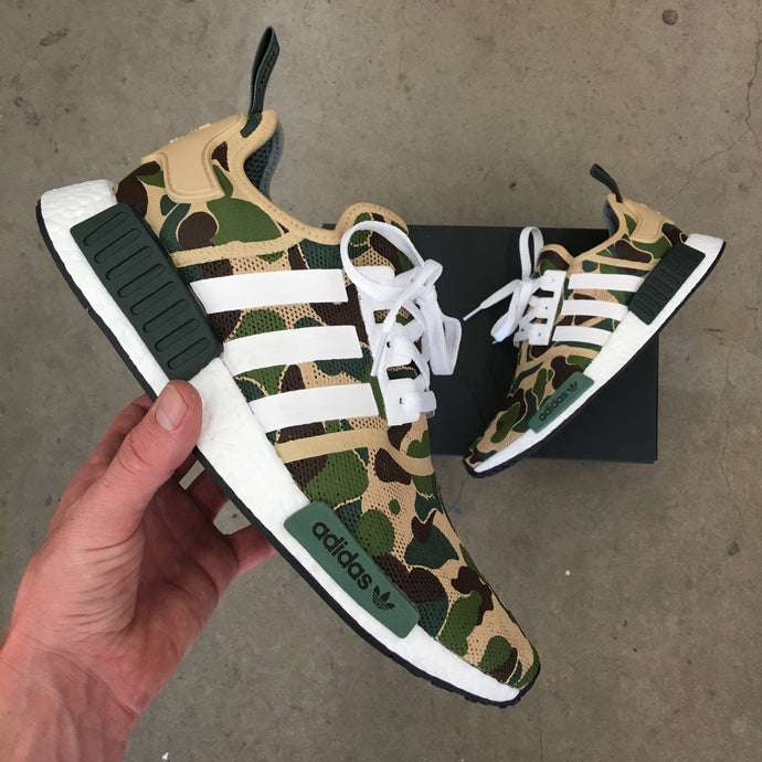 Go Bananas for BAPE Inspired Custom Painted Adidas NMD_R1