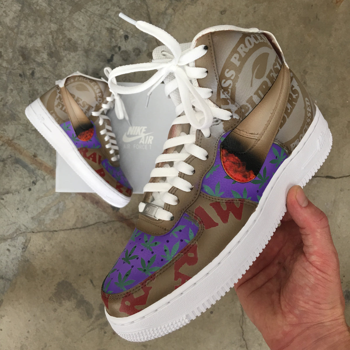 RAW Nike Air Force Ones in 2019 | Nike air force ones