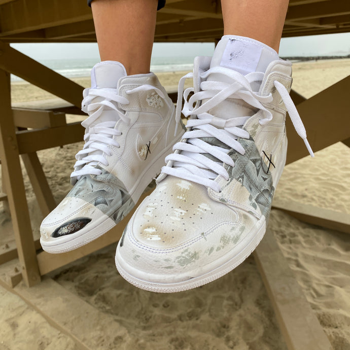 Brand New Worn Distressed Jordans? - Custom Hand Painted Distressed Jordans