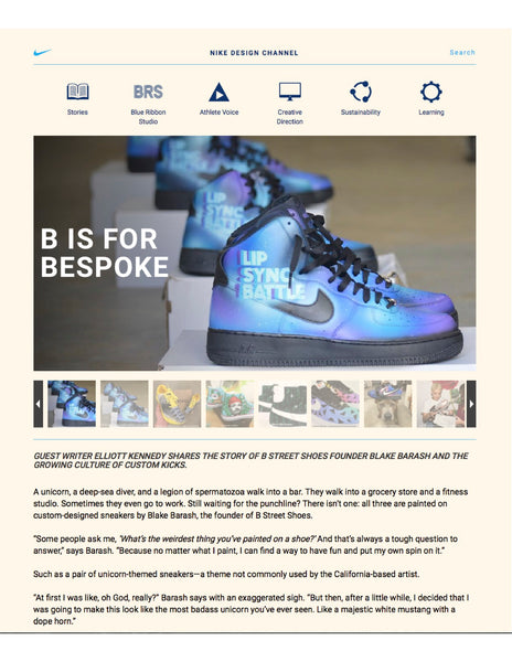 Nike Design Interview with Blake Barash @bstreetshoes
