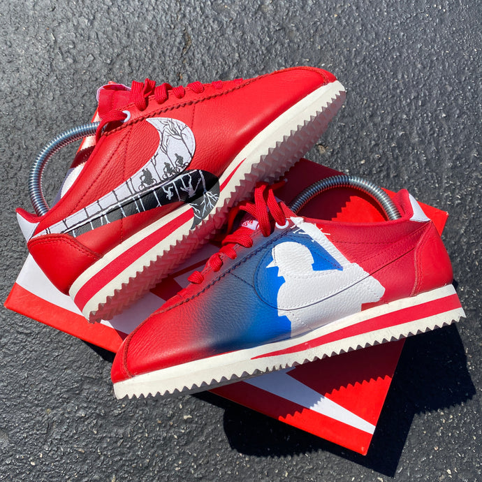 Hangin' Out in the 'Upside-Down' in these Stranger Things Inspired Nike Cortez - Custom Hand Painted Nike Cortez