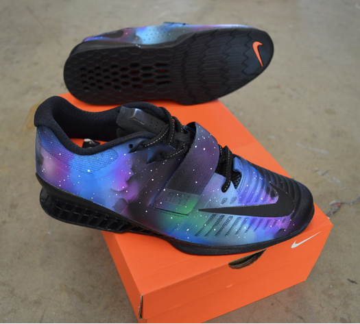 Super Nova Galaxy Nike Romaleos 3 and Metcon 4!
