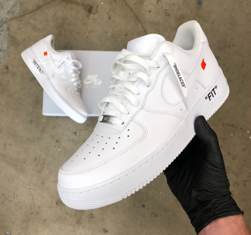 Off White Themed Nike Air Force 1 Low's – B Street Shoes
