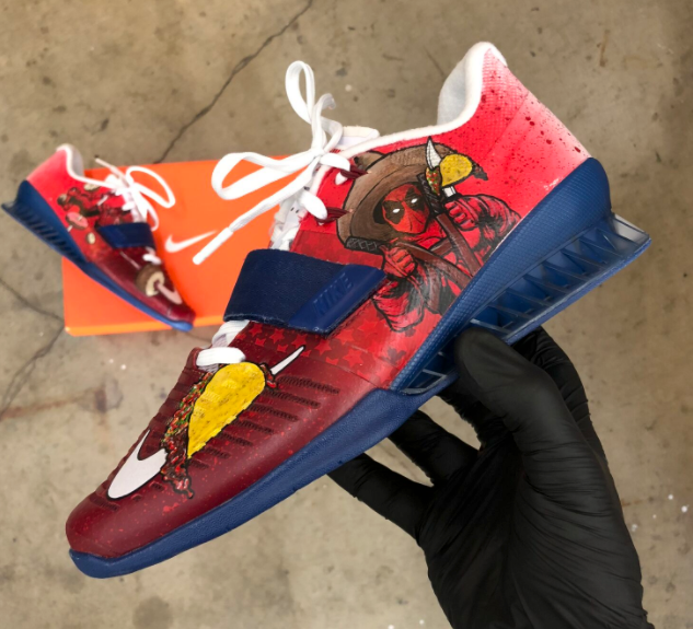 Deadpool and Donuts Nike Romaleos!