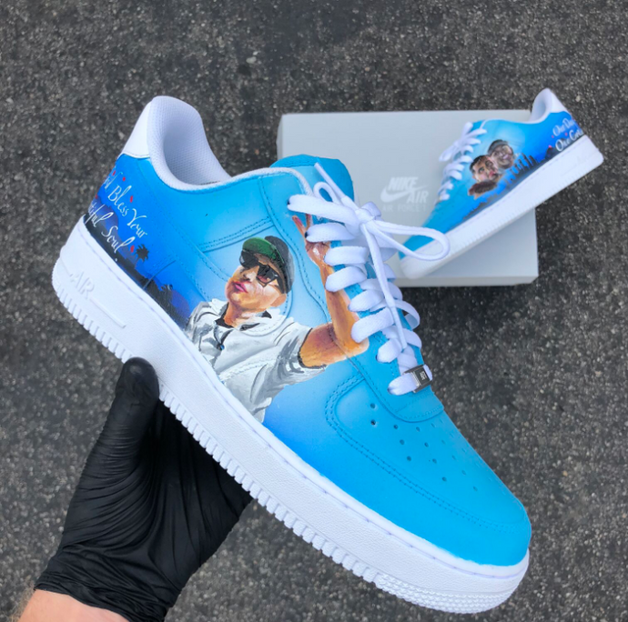 Our Day One Cousin- Custom Painted Dedication Air Force 1's