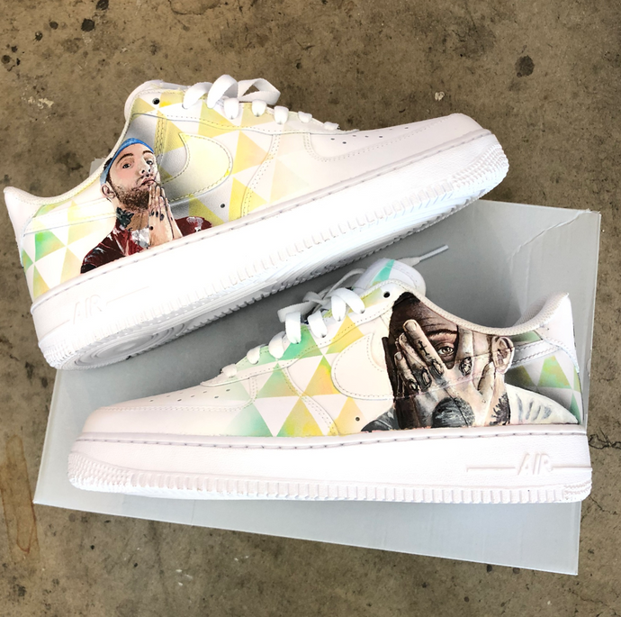 RIP Mac Miller- Custom AF1's in Memorial of Malcom McCormick