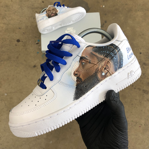 R.I.P. Nipsey Hussle- Custom Air Force 1's to Honor Neighborhood Nip