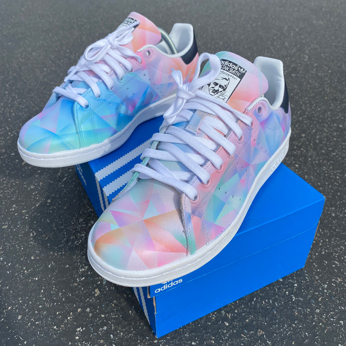 Battle of the Prism Patterns - Custom Hand Painted Adidas Stan Smith
