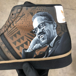 Custom Hand Painted Black History Month Social Justice Adidas Top Ten Hi Shoes