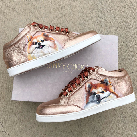 Painted Jimmy Choo Shoes