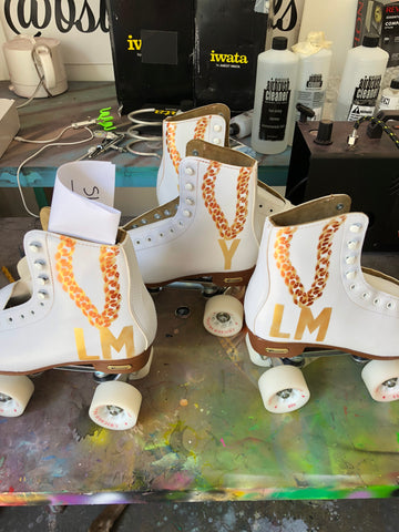 Painted Roller Skates