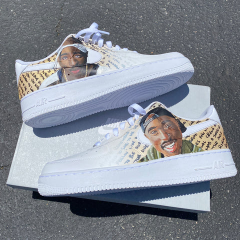 Tupac Hand Painted AF1