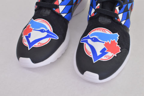 custom roshe one, painted nike roshe, hand pained nike roshe one, bstreetshoes, custom roshe run, toronto blue jays