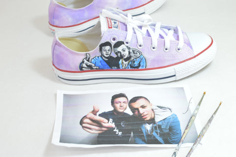 Kalin & Myles Shoes, custom Painted Kalin and Myles shoes, Kalin & Myles, Custom Kalin & Myles Converse