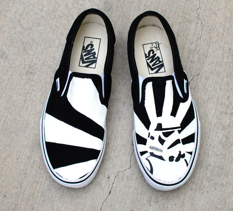 star wars vans, storm trooper vans, custom vans shoes, hand painted vans, custom star wars sneakers
