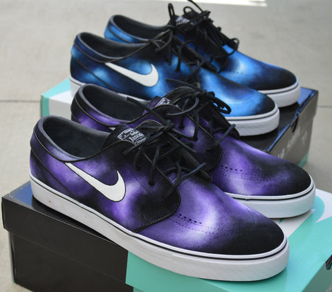 custom sneakers, unique art shoes, hand painted shoes, custom nike, stefan janoski, nike sb