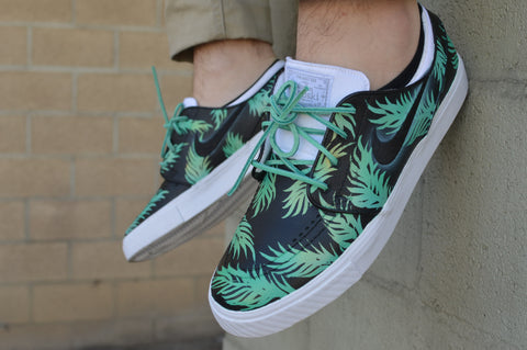 stefan janoski, nike sb, hand painted shoes