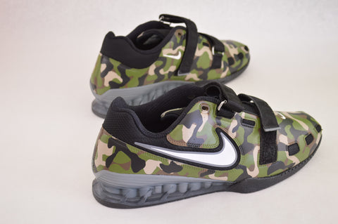 Nike Romaleos 2, camo weightlifting shoes, custom hand painted nikes
