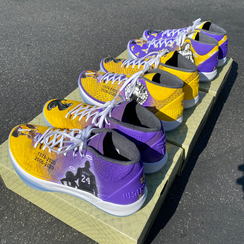 Custom Painted Kobe Bryant Sneakers